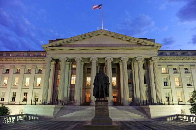 Departamento del Tesoro en Washington DC, Estados Unidos. EFE/Matthew Cavanaugh