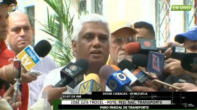 Foto: Jose Luis Trocel, presidente de la Federación Nacional de Transporte / VPI