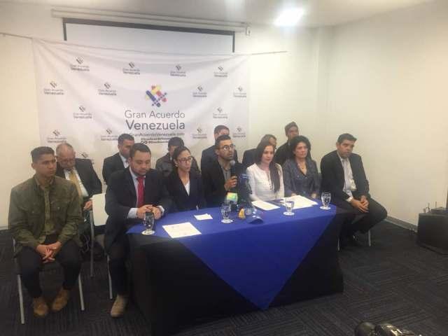 Rueda de prensa de Gran Acuerdo Venezuela en Bogotá 1