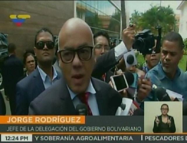 Jorge Rodríguez en República Dominicana / Foto captura tv