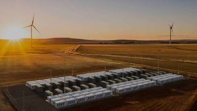 La batería, instalada en Australia, se alimenta de energía eólica. HORNSDALE POWER RESERVE NEOEN/TESLA QUALITY