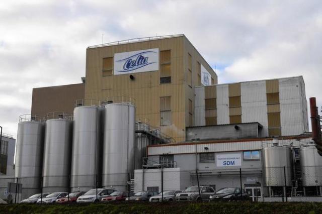 Edificio de la fábrica de Celia, que pertenece a Lactalis. DAMIEN MEYER