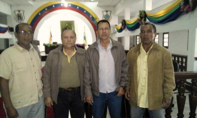 """Diputados regionales del Frente parlamentario Manuel """"Carlos Piar"""". Foto prensa"""