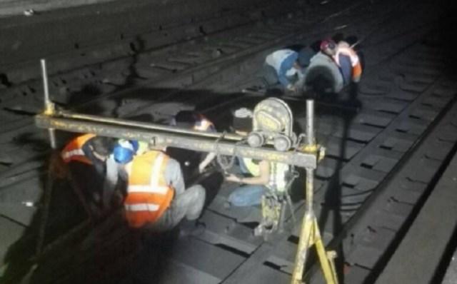Labores en la estación Antímano de la Línea 2 del Metro  de Caracas // Foto @metro_caracas