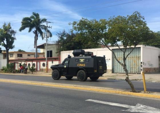Foto: Fuerte despliegue militar en Cumaná  / Cortesía