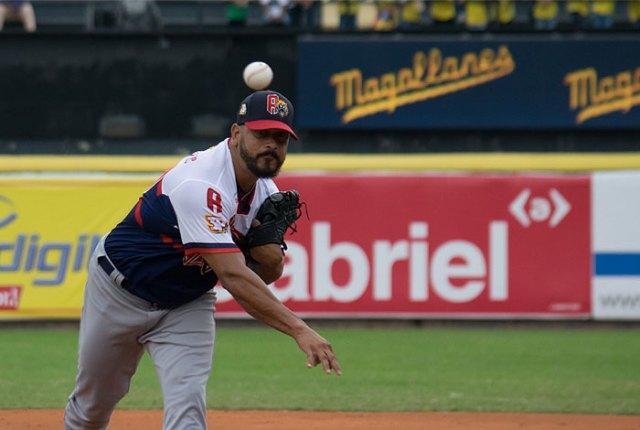 Guillermo Moscoso, lanzador de los Tigres de Aragua. AVS Photo Report