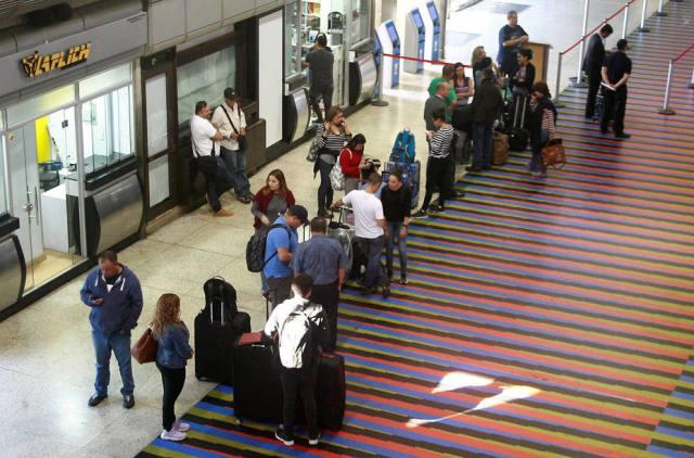 En Maiquetía muchos iban a hacer conexión para viajar a otro país
