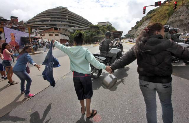 Foto: Protesta en Roca Tarpeya en Caracas / Yhimy Gutierrez