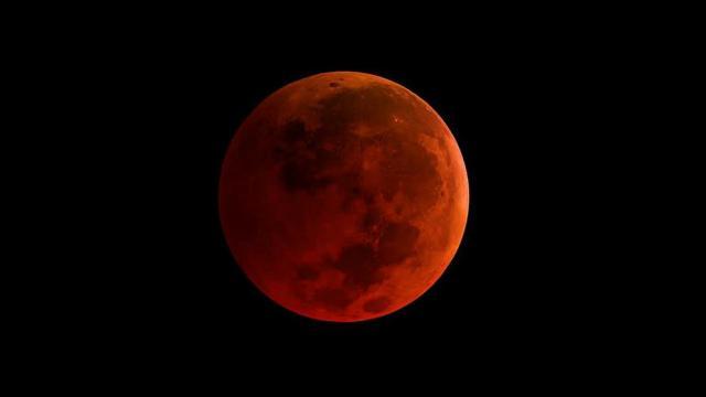 Imagen de una superluna azul de sangre. (NASA)