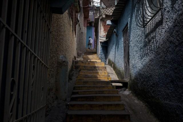 Vista del callejón donde Yanderson Granados fue visto por última vez con vida.