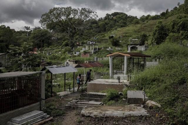 Una vista del cementerio local en Barlovento donde enterraron a Eliezer Ramirez.