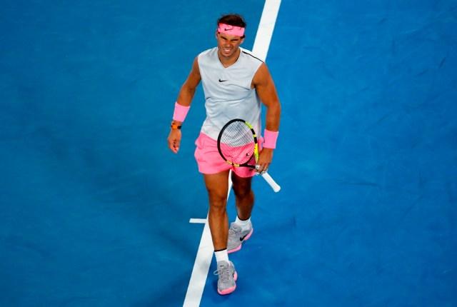 En la imagen de archivo, el tenista español Rafael Nadal en los cuartos de final del Abierto de Australia en Melbourne (Australia) el 23 de enero de 2018. REUTERS/Toru Hanai