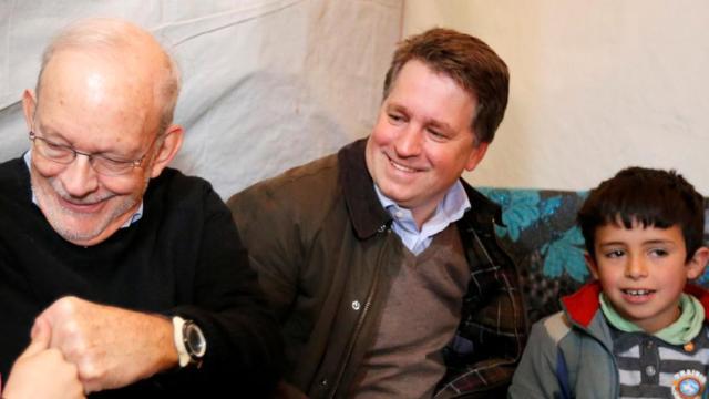 El director de Unicef Anthony Lake , a la izquierda , con Justin Forsyth, cuando era CEO de Save the Children (Mohamed Azakir / Reuters)