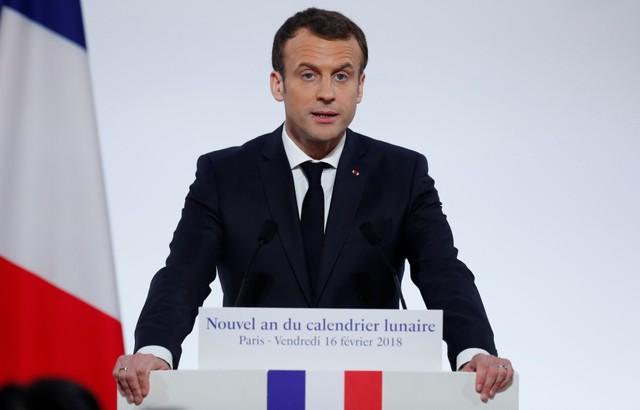 Presidente Macron durante un acto en París, Francia REUTERS/Ian Langsdon/Pool
