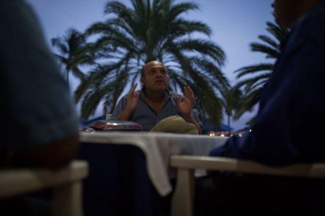 José Bodas, un líder sindical, dice que los gerentes de PDVSA están marcando a aquellos que renunciaron como traidores. Fotógrafo: Wil Riera / Bloomberg