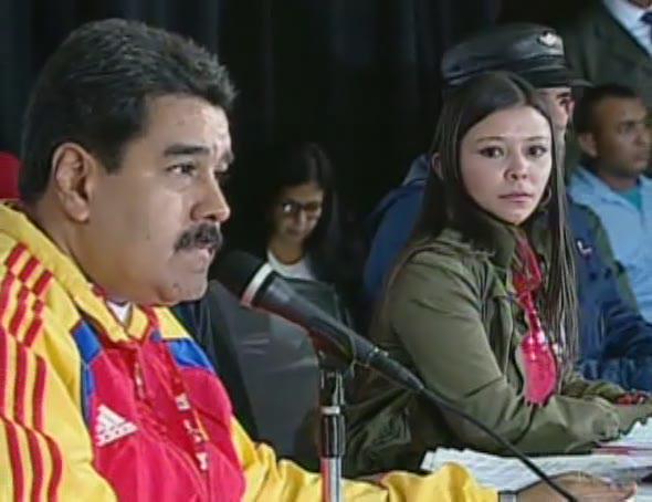 Nicolás Maduro y Haidelys Guerrero