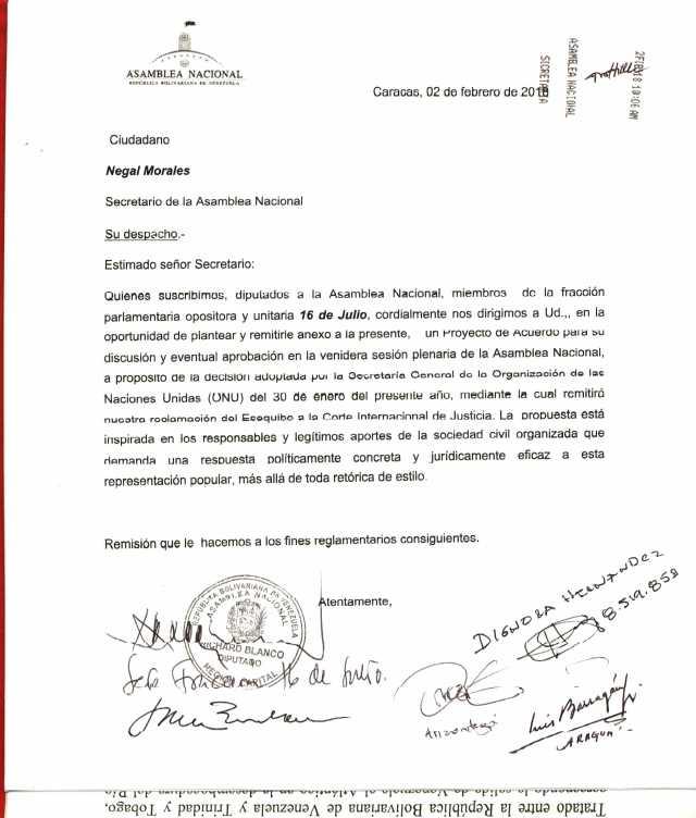 CONSIGNACION ACUSE DE RECIBO