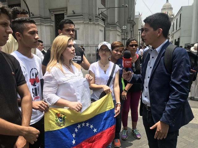2623d6977 Venezolanos en Perú piden al Grupo de Lima medidas contra Maduro ...