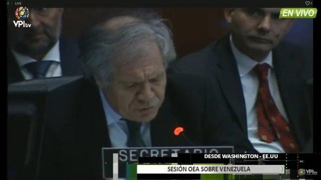 Luis Almagro, secretario general de la Organización de Estados Americanos (OEA)