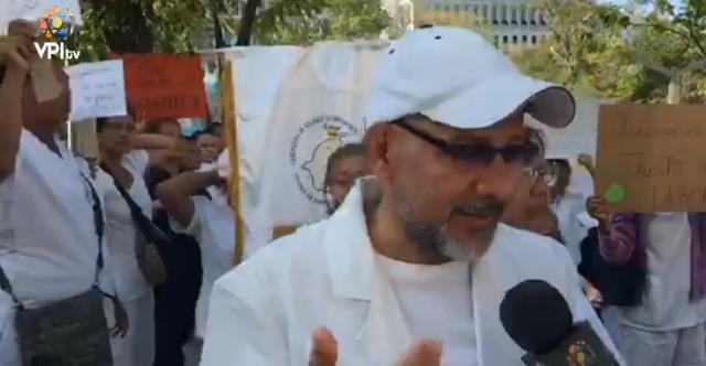 Foto: El vicepresidente del Colegio de Profesionales de Enfermería del estado Zulia, José Ángel Sanguino/ VPI