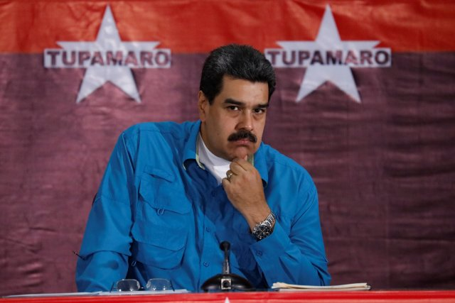 Venezuela's President Nicolas Maduro attends an event with supporters in Caracas, Venezuela February 3, 2018. REUTERS/Marco Bello