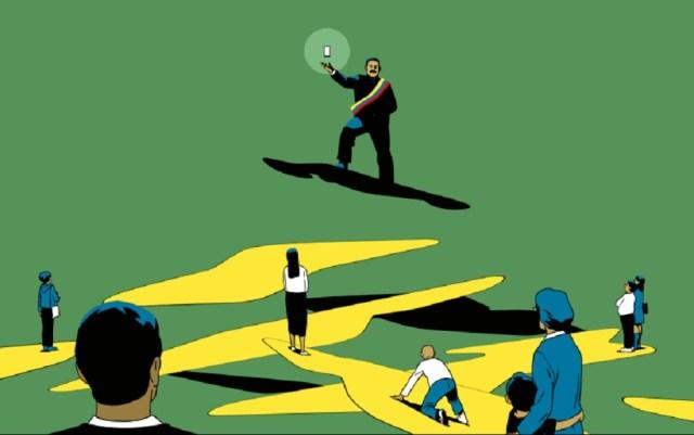 Ilustración Jonathan Djob Nkondo para Bloomberg