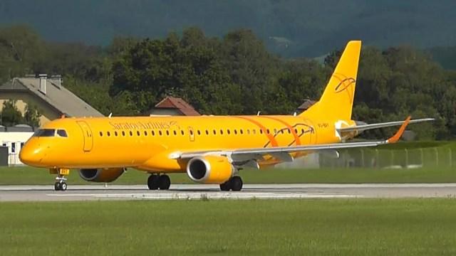 Foto de un avión de la línea Saratov Airlines (Foto cortesía)