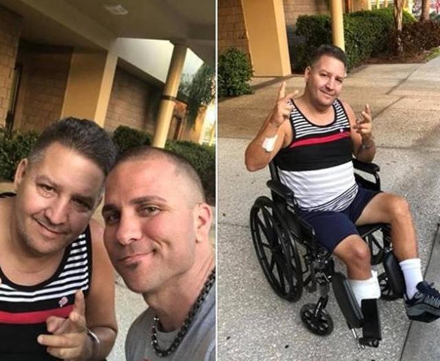 """Jorge Rodríguez denunció que a su padre le amputaron parte de la pierna derecha por """"negligencia médica"""" en un hospital de La Habana, Cuba. Su padre se recupera luego de ser tratado en un centro médico de Tampa, Florida. (Foto: Redes sociales de Jorge Rodríguez)"""