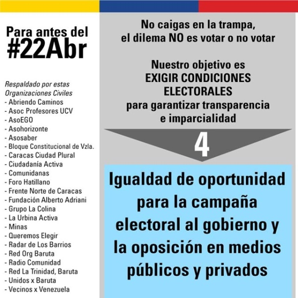 20 ongs elevaron a la ONU petición de elecciones libres en Venezuela