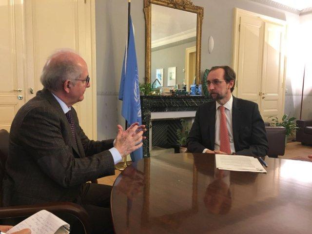 Antonio Ledezma junto al Alto Comisionado para DDHH de la ONU, Zaid Raad Al Hussein // Foto @alcaldeledezma