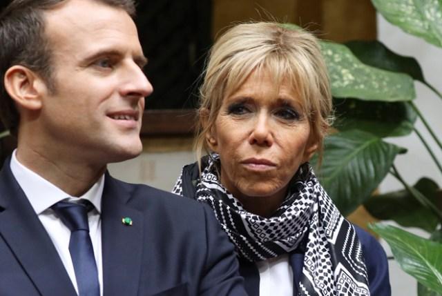 Emmanuel y Brigitte Macron, en una imagen reciente
