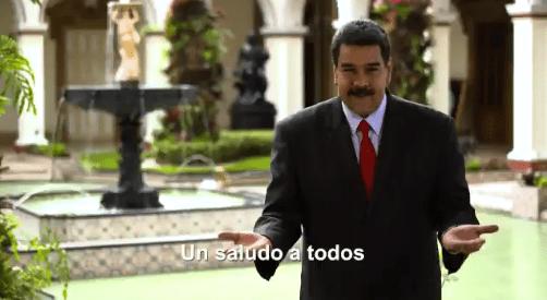 Imagen del mensaje publicado por el presidente Nicolás Maduro