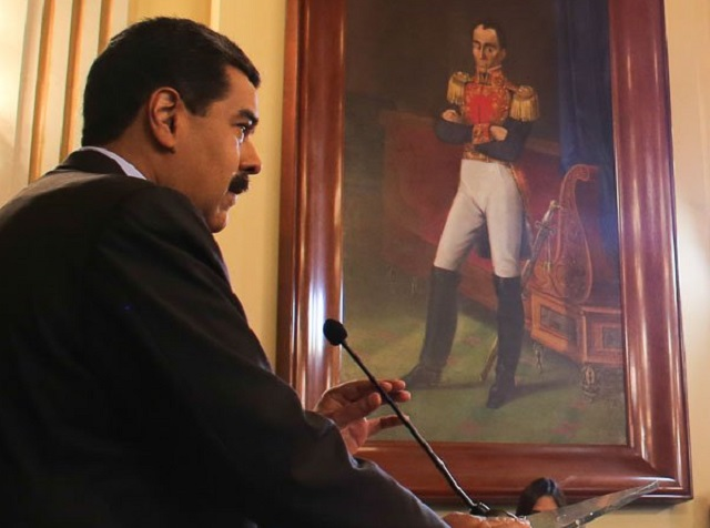 Nicolás Maduro durante rueda de prensa en Miraflores // Foto @PresidencialVen