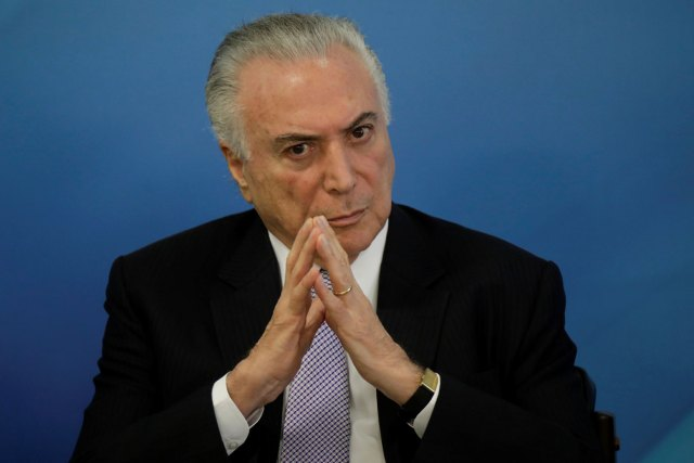 El presidente de Brasil, Michel Temer  REUTERS / Ueslei Marcelino