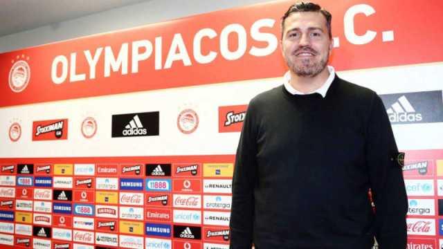 El español Oscar García Junyent, técnico del Olympiacos de Grecia