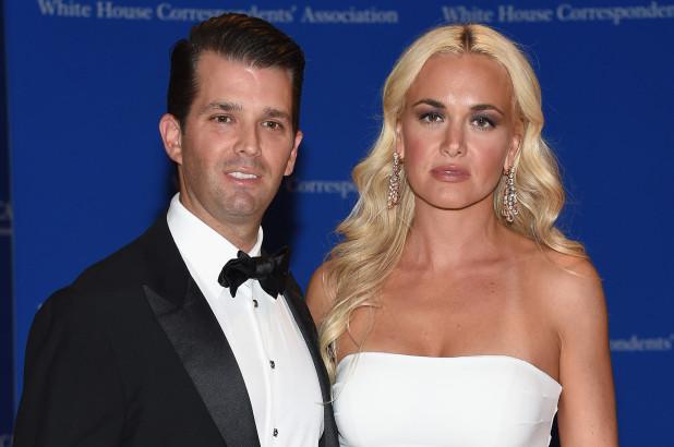 Donald Trump Jr. y su esposa Vanessa