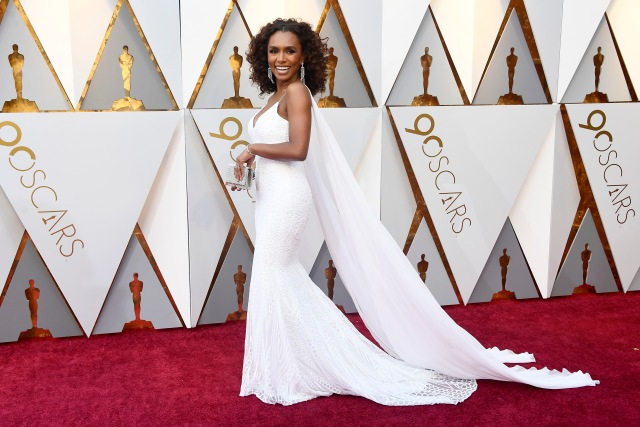 HOLLYWOOD, CA - MARCH 04: Janet Mock attends the 90th Annual Academy Awards at Hollywood & Highland Center on March 4, 2018 in Hollywood, California. Frazer Harrison/Getty Images/AFP