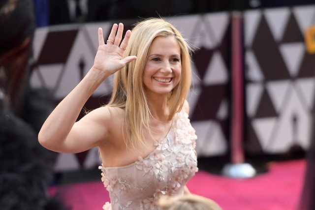 HOLLYWOOD, CA - MARCH 04: Mira Sorvino attends the 90th Annual Academy Awards at Hollywood & Highland Center on March 4, 2018 in Hollywood, California. Matt Winkelmeyer/Getty Images/AFP