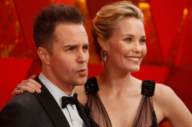 90th Academy Awards - Oscars Arrivals - Hollywood, California, U.S., 04/03/2018 - Sam Rockwell and Leslie Bibb. REUTERS/Carlo Allegri