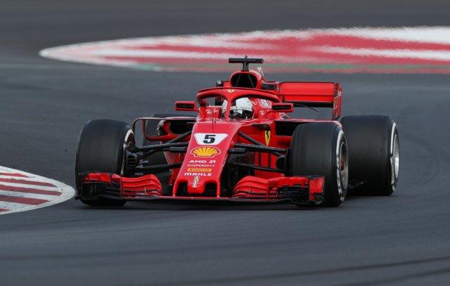 El piloto de la escudería Ferrari, Sebastian Vettel. REUTERS/Albert Gea