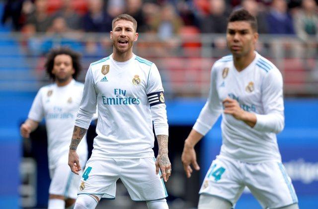 Soccer Football - La Liga Santander - Eibar vs Real Madrid - Ipurua, Eibar, Spain - March 10, 2018   Real Madrid's Sergio Ramos during the game     REUTERS/Vincent West