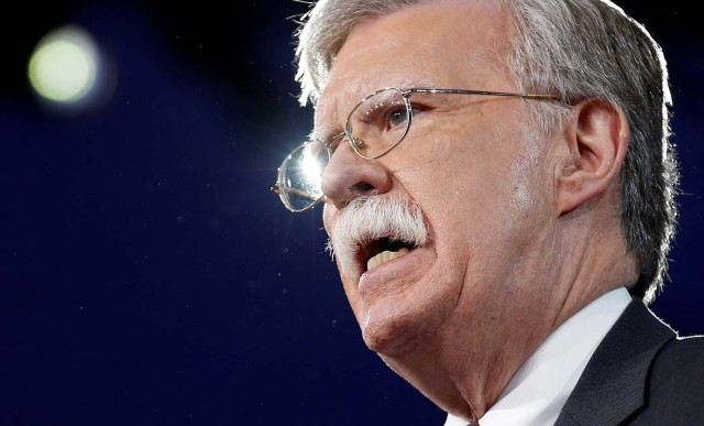 FILE PHOTO - Former U.S. Ambassador to the United Nations John Bolton speaks at the Conservative Political Action Conference (CPAC) in Oxon Hill, Maryland, U.S. February 24, 2017. REUTERS/Joshua Roberts/File Photo