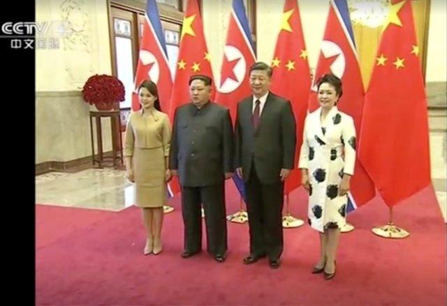 El líder norcoreano Kim Jong Un visitó China de domingo a miércoles en una visita extraoficial, según la agencia de noticias china Xinhua informado el miércoles. CCTV vía Reuters TV EDITORES DE ATENCIÓN - SIN RESTAURAR. SIN ARCHIVOS. CHINA FUERA. IMÁGENES TPX DEL DÍA - Reuters