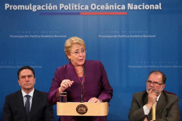 La presidenta saliente de Chile, Michelle Bachelet. EFE