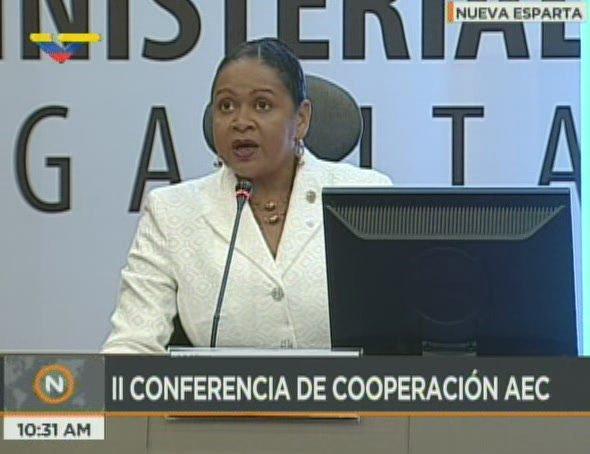 June Soomer, secretaria general de Asociación de Estados del Caribe (Foto: VTV)