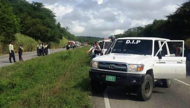 Los funcionarios de la Policía Municipal de Lander se desplegaron una vez que conocieron el hecho | Foto: cortesía