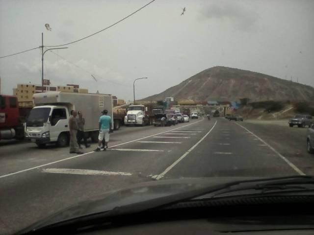 Foto: Protesta en Lara por escasez de gas doméstico  / Cortesía