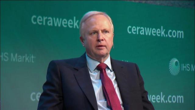 El presidente ejecutivo de BP, Robert Dudley, durante su intervención en el CERAWeek 2018 en Houston, EEUU / Foro cortesía