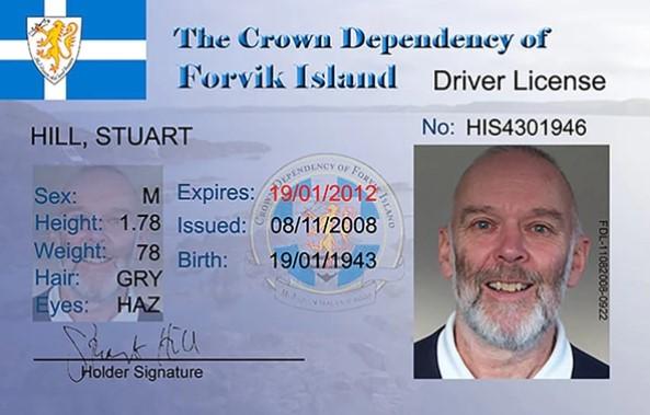 El registro de conducir de Stuart Hill