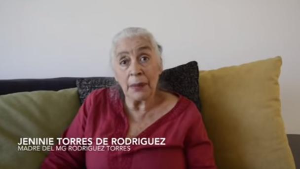 Madre del general Miguel Rodríguez Torres. Foto captura de video